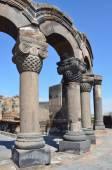 Ruiny starożytnej świątyni Erywań, Armenia — Zdjęcie stockowe