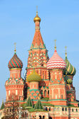 Moscow, Basil's cathedral on Red square — Stock Photo