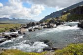 Mountain river in Iceland — Stock Photo