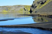 Mountain lakes in Iceland — Stock Photo