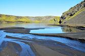 Mountain lakes in Iceland — Stock Photo
