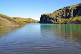 Mountain lake in Iceland — Stock Photo