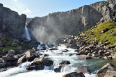 Mountains and rivers in Iceland — Stock Photo
