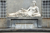 Italy, Turin, antic statue on the street — Foto de Stock