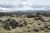 Landscapes of Iceland, volcanic lava шт mountains — Stock Photo