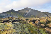 Landscapes of Iceland, mountains — Stock Photo
