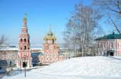 Stroganovskaya church in Nizhny Novgorod in winter, Russia — Stock Photo