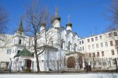 Církev ze St. Vladimir rovnající se apoštolové v staré zahrady. Moskva — Stock fotografie