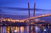 Night view for the Churkin cape in Vladivostok — Stock Photo