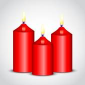 Vector illustration of red candles — Stok Vektör