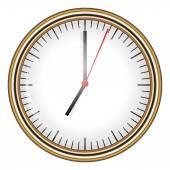 Vector illustration of clock — Stock Vector