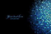 Векторный фон с синими огнями дискотеки — Cтоковый вектор