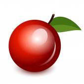 Vector illustration of shiny apple — Stock Vector