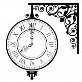Vector illustration of vintage clock — Stockvektor
