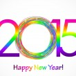 Vector colorful 2015 Happy New Year background — Stock Vector #58450715