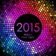Vector - Happy New Year 2015 - colorful disco lights background — Stock Vector #58450733