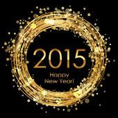 Vector 2015 glowing background — Stock Vector