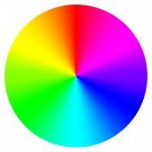 Vector illustration of color wheel — Stock Vector