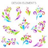 Colored design elements. — Vecteur