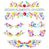Colored dividers set. — Vecteur