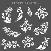 White design elements. — Vecteur
