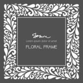 White square frame. — Stock Vector