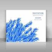 Card with watercolor flowers. — Stock Vector