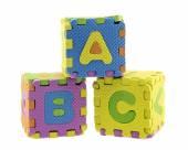 English Alphabet puzzle — Stock Photo
