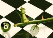Green Minister Chess — Stock Photo
