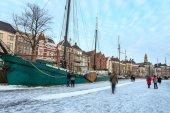 都市の冬の風景 — ストック写真