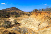 Wild landscape of eroded sandstone in Africa — Stock Photo
