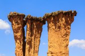 Detail of an eroded pilar of sandstone — Stock Photo