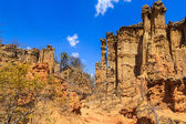 Landscape of eroded sandstone in Africa — Stock Photo