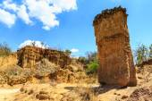 Sandstone pile in an African wild landscape — Stock Photo