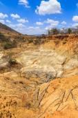 Wild eroded landsape in Africa — Stock Photo
