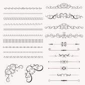 Set vintage decorative frames — Stock Vector