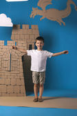 Child and castle  — Stock Photo