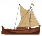 Old Dutch boat — Stock Vector