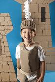 Medieval knight child — Stock Photo