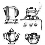 Tea set. Illustration. — Stock Vector #55301139