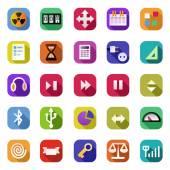 Icons set. — Wektor stockowy