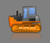 Crawler tractor — Stock Vector
