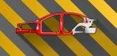 Car frame — Stock Vector