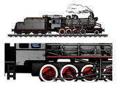 Vintage train. — Stock Vector