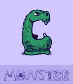 Monster font — Stock Vector