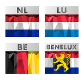 Benelux countries flags — Stock Vector