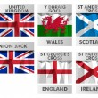 Flags of United Kingdom — Stock Vector #58821293