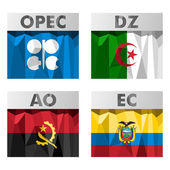 OPEC countries flags. — Stock Vector