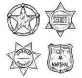 Sheriff stars.  — Stock Vector