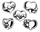 Valentine heart with bow-knot  — Stock vektor